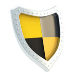 Shield divided in four sectors Stock Photography