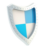 Shield divided in four sectors Royalty Free Stock Photos