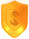 Shield with dollar Royalty Free Stock Image