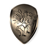 Shield with dragon Royalty Free Stock Photography