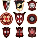 Shield - elements for design Royalty Free Stock Photos
