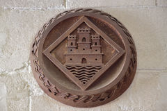 Shield emblem of the city of alicante, spain Royalty Free Stock Photo