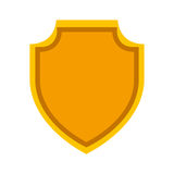 Shield emblem isolated icon Royalty Free Stock Images