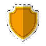 Shield emblem isolated icon Royalty Free Stock Image