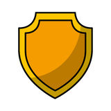 Shield emblem isolated icon Royalty Free Stock Photo
