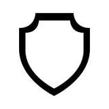 Shield emblem isolated icon Stock Images