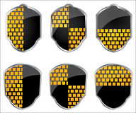 Shield emblems Stock Image
