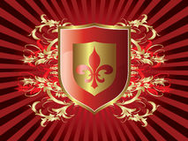 Shield enblem Royalty Free Stock Photography