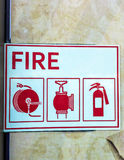 Shield of fire safety Royalty Free Stock Photography