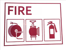 Shield of fire safety Stock Image
