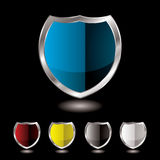 Shield five variation Stock Photos
