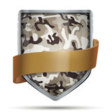 Shield with flag Camouflage Royalty Free Stock Image
