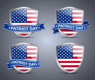Shield and flag USA Royalty Free Stock Photo