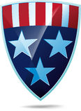 Shield with flag of the USA Stock Image
