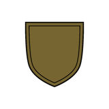 Shield flat icon emblem Stock Photos