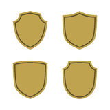 Shield flat icons emblem set Royalty Free Stock Image
