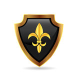 Shield with fleur de lis Royalty Free Stock Images