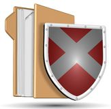 Shield and folder Stock Image