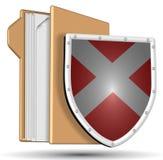 Shield and folder Stock Image