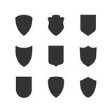 Shield frames simple icons set Royalty Free Stock Image
