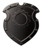 Shield with gear wheel Royalty Free Stock Photo