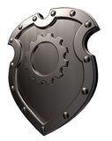 Shield with gear wheel Royalty Free Stock Photography