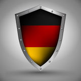 Shield with the German flag Royalty Free Stock Image