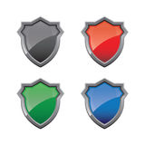Shield Glossy Royalty Free Stock Photos
