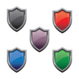Shield Glossy Stock Photo