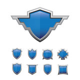 Shield Glossy set Stock Images