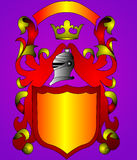 The Shield and gold(en) corona Stock Photo