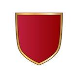 Shield gold red icon shape emblem Stock Image