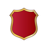 Shield gold red icon shape emblem Royalty Free Stock Photo