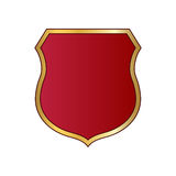 Shield gold red icon shape emblem Stock Photography