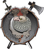 Shield with griffins. Shield with griffins, (mystical creature Stock Illustration