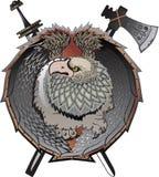 Shield with griffins. Shield with griffins, (mystical creature stock illustration