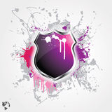 Shield grunge background Royalty Free Stock Photos