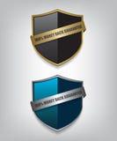 Shield guarantee badge illustration Royalty Free Stock Images