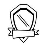 shield guarantee emblem ribbon outline empty Stock Images