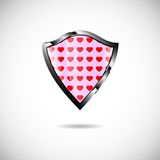 Shield heart Stock Images