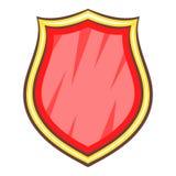 Shield icon, cartoon style. Shield icon. Cartoon illustration of shield vector icon for web Royalty Free Stock Photo
