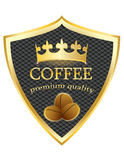 Shield icon Coffee premium quality vector Royalty Free Stock Photo
