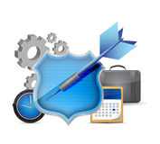 Shield icon data protection concept illustration Stock Photography
