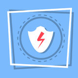 Shield Icon Data Protection Web Button Royalty Free Stock Photo