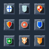 Shield icon flat Royalty Free Stock Image