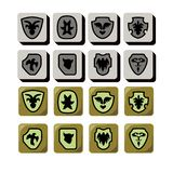 Shield icon for game design royalty free illustration