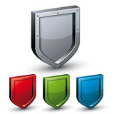 Shield icon. Royalty Free Stock Photography