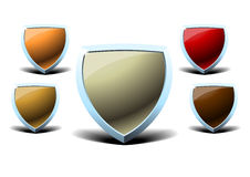 Shield icon. The picture of some shield icons Royalty Free Stock Photo