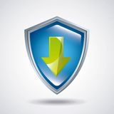 Shield icon. Security system design. Vector graphic Stock Image