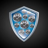Shield icon. Security system design. Vector graphic Stock Photo